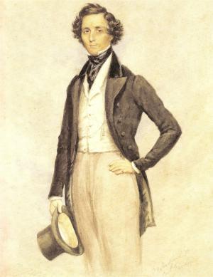 J W Childe's portrait of Mendelssohn (1829)