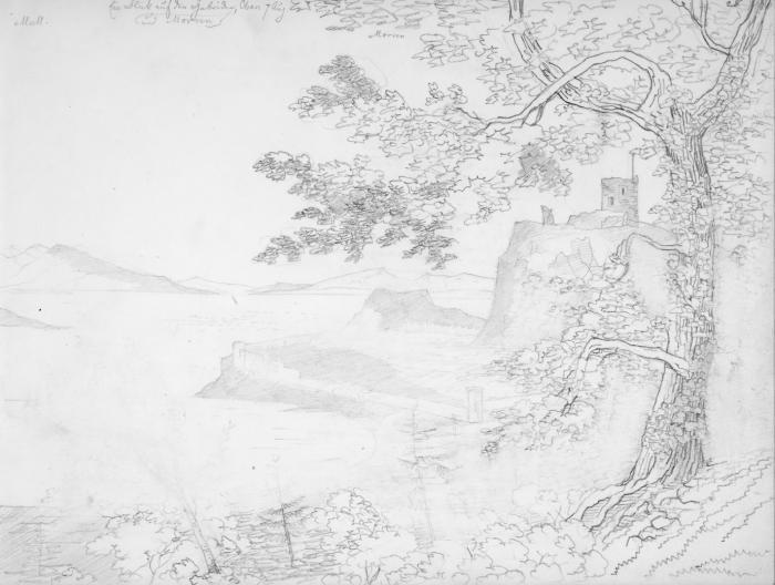 Dunollie Castle near Oban 7 August 1829