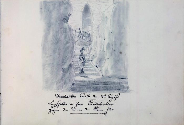 Dumbarton Castle - sketch by Mendelssohn
