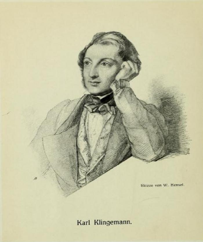 Karl Klingemann (1798-1852), illustration by Wilhelm Hensel