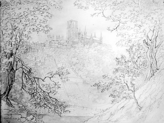 Durham Cathedral 1829 - View from the East