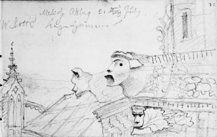 Melrose Abbey 31 July 1829