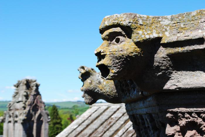Gargoyles at Melrose Abbey