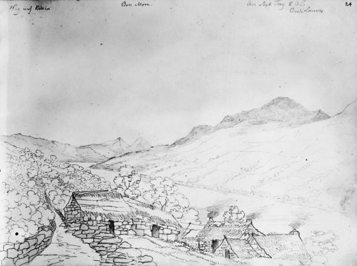 Mendelssohn's sketch of Loch Tay